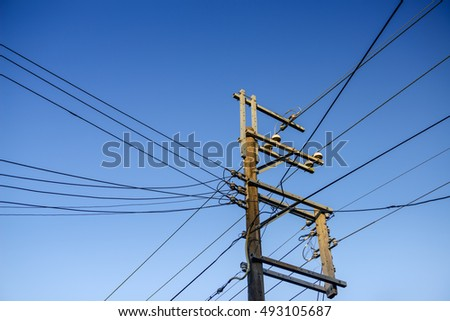 pole and power line