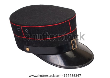 police officer's hat isolated