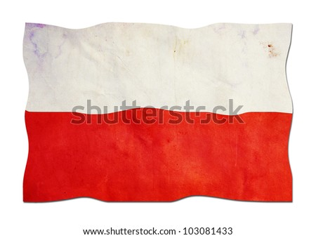 Polish Flag made of Paper