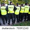 Polish police patrols in action - stock photo