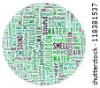 pollution environment info-text graphics with circle shape - stock