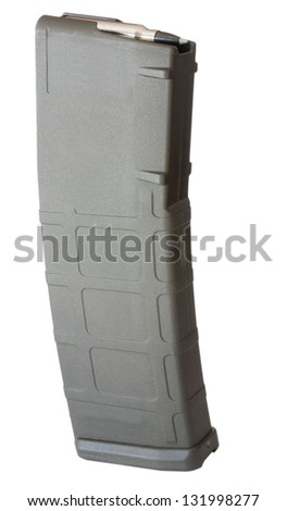 Polymer assault rifle magazine that holds thirty rounds