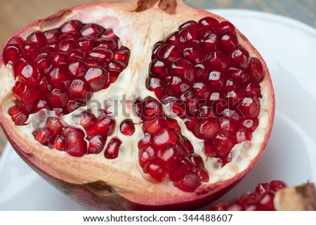 pomegranate on the table