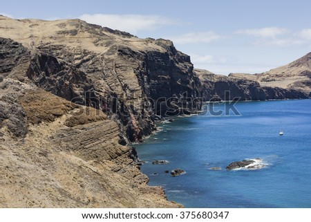 Ponta de Sao Lourenco, the eastern part of Madeira Island, Portugal.