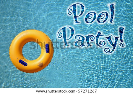 Pool Party invitation Concept
