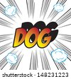 pop art background office stamp with the word DOG - stock