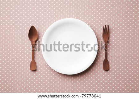 Pop Place setting.