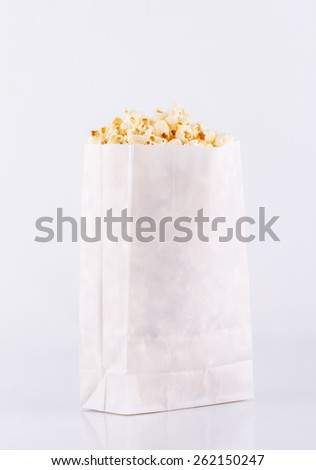 Popcorn bag isolated on white background