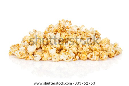 Popcorn heap. Isolated on white background