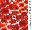 Poppies Pattern - stock photo