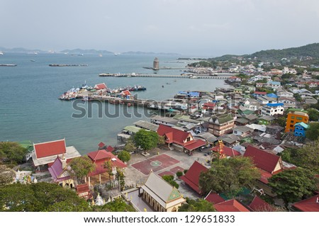 Port at Sri Chang Island of Thailand