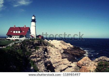 Portland Head Lighthouse located in Portland Maine