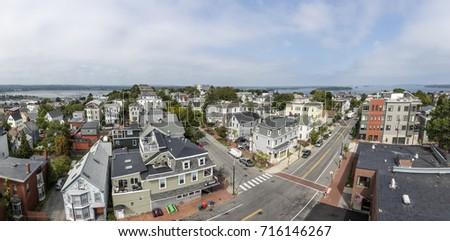 PORTLAND, USA   SEP 15, 2017: Aerial View Of Portland Hill Living Area