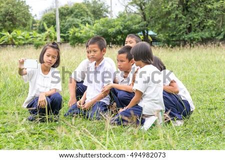Family Having Picnic Young Boy Sitting Stock Photo