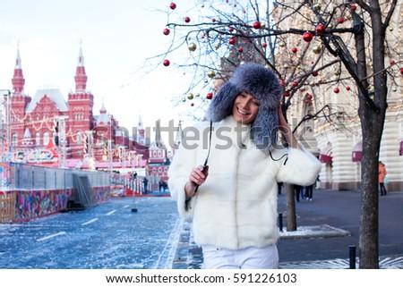 Latvian Woman Winter Coat Portrait 70