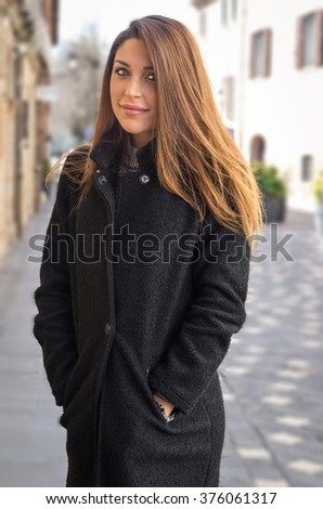 Portrait of a beatiful caucasian girl outdoor - concept about people