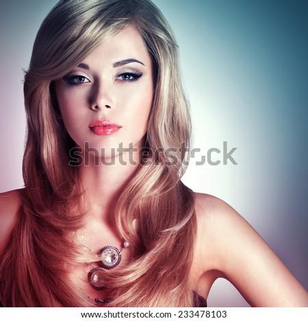 beautiful female face natural perfect skin stock photo