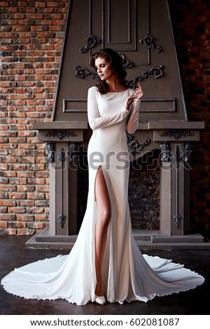 Brunette Girl Wedding Dress