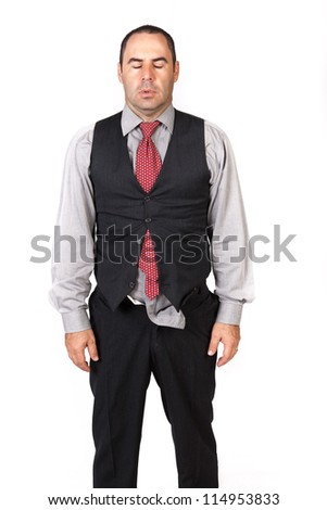 Portrait of a business man looking depressed
