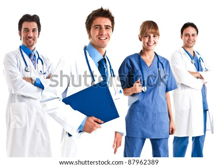 Portrait of a doctor and his team