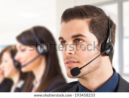 Portrait of a male customer representative