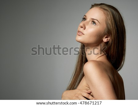 Portrait of a pretty young brunette lady