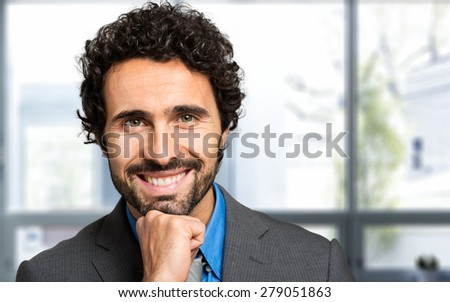 Portrait of a smiling business man