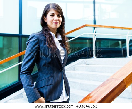 Portrait of a smiling business woman