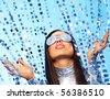 Portrait of a stylish woman - stock photo