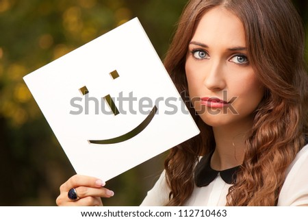Portrait of a young girl with smiley