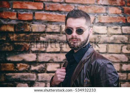 portrait of a young man, hipster