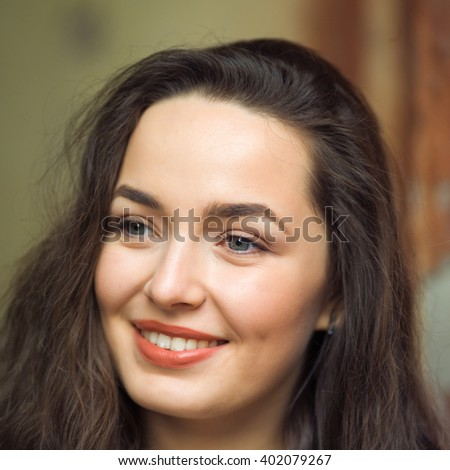 Portrait of a young woman with beautiful eyes