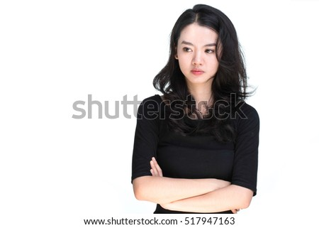 Portrait of an Asian beauty isolated on white