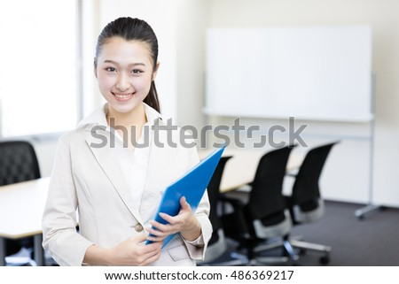 portrait of asian businesswoman in the office