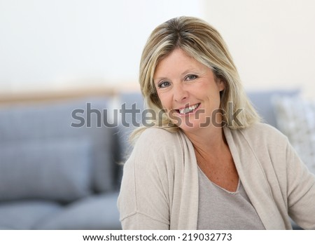Portrait of beautiful 40-year-old woman