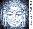 portrait of buddha - stock photo