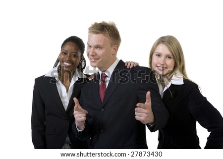 Portrait of confident businesspeople