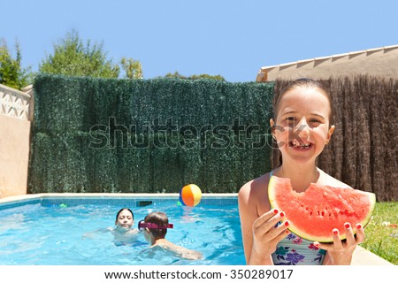 Portrait Young Woman Swimming Pool Tropical Stock Photo 104851040 Shutterstock