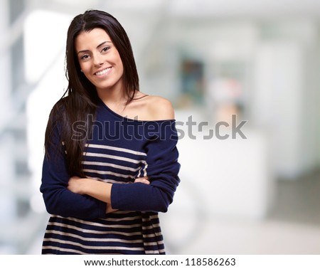 Portrait Of Happy Young Girl, Indoor