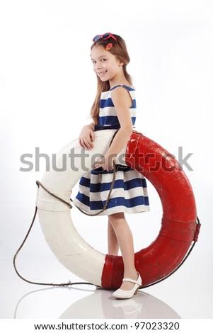 Beautiful Pert Leggy Retro Pinup Girl Stock Photo 94006009