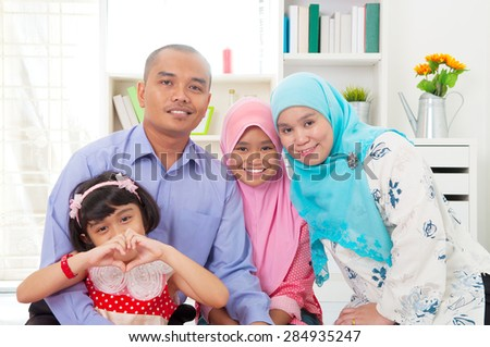 Portrait of malay family