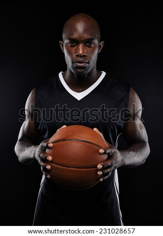 Portrait Afro American Male Basketball Player Stock Photo ...