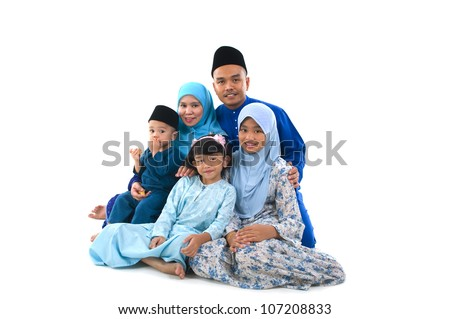 portrait of muslim family