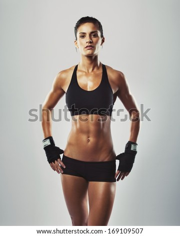 close image middle eastern female sports stock photo 166601417, Muscles