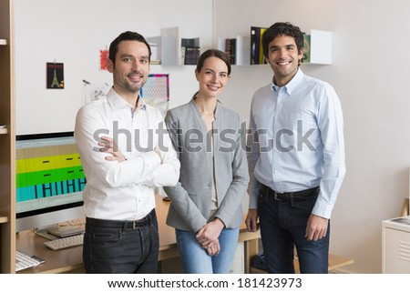 Portrait of Successful business team in office