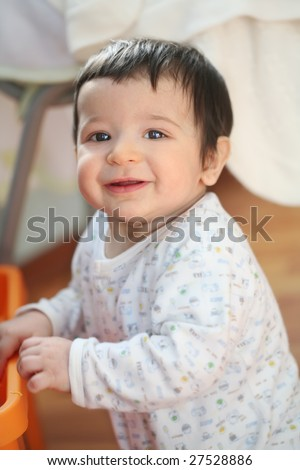 portrait of the smiling baby