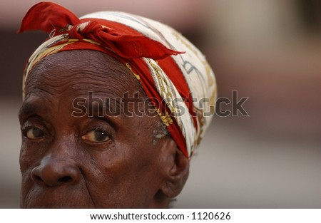 Portrait of woman, Havana, Cuba
