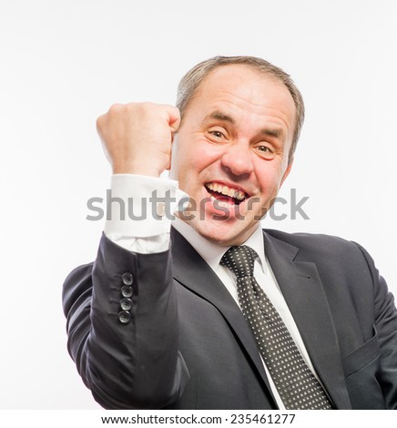 Portrait of young happy smiling business man