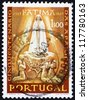 PORTUGAL - CIRCA 1985: a stamp printed in the Portugal shows Apparition of Our Lady of Fatima, 50th Anniversary, circa 1985 - stock photo