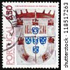 PORTUGAL - CIRCA 1981: a stamp printed in the Portugal shows Arms of Duke of Braganza, 1510, circa 1981 - stock photo